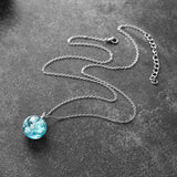 Transparent Resin Blue Sky White Cloud Necklace