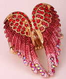 Gold and Silver Plated Angel Wings Rings