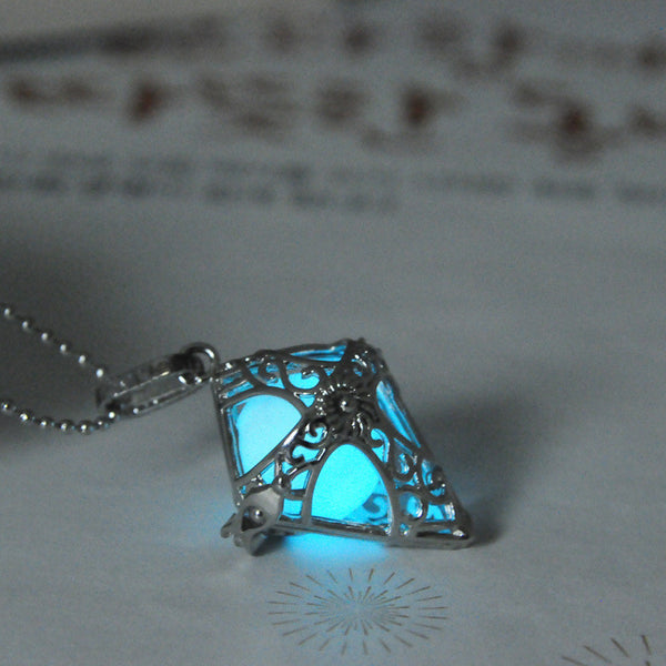 Luminous Cone Pendant Necklace