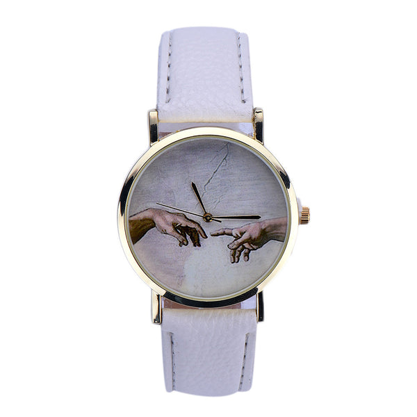 Touch Leather Quartz Wrist Watch
