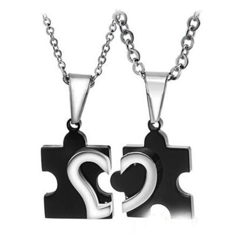 Love Heart Puzzle Necklace