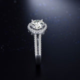 Gold Plated Silver Crystal Zircon RIng