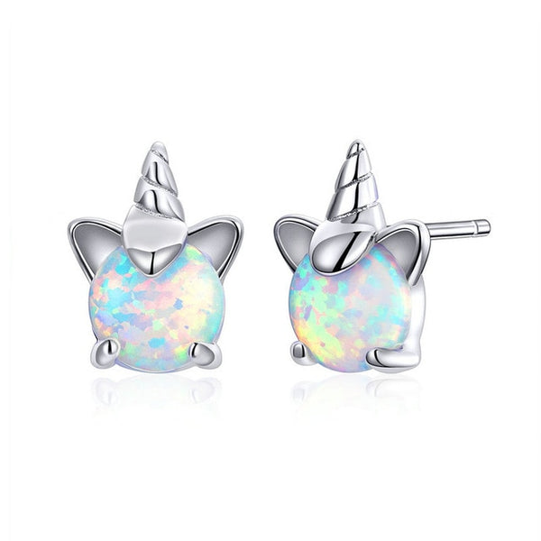 Unicorn Opal Stud Earrings