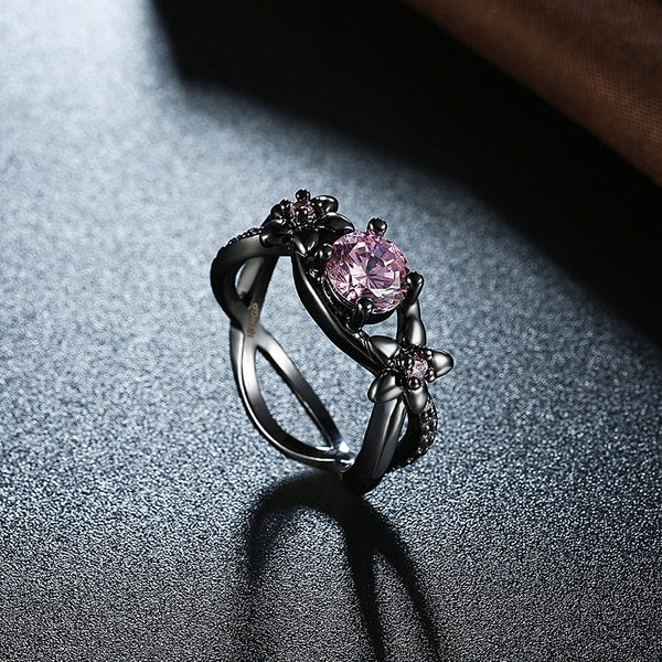 Infinity Pink Flower Ring