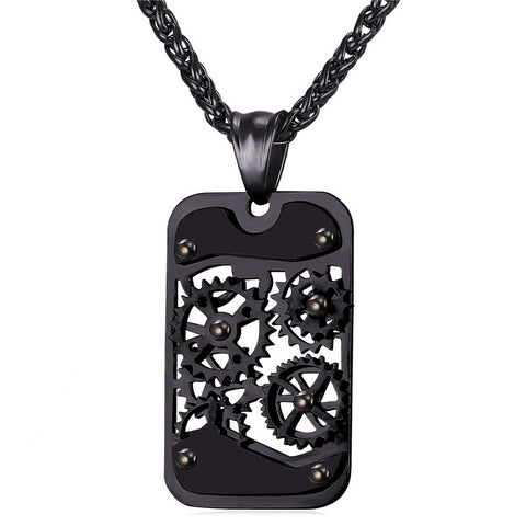 Fidget Gear Pendant Necklace