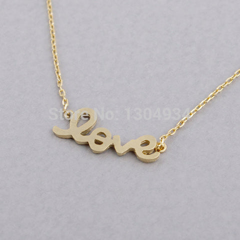 Plated Gold Love Necklace