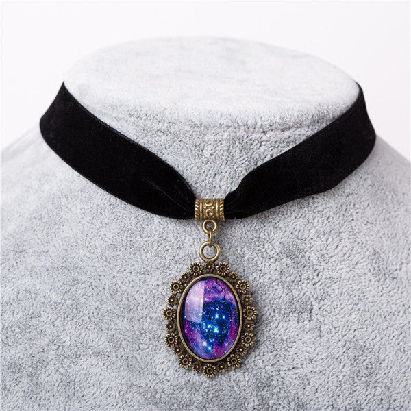 96894f96d3ccc0 Galaxy Nebula Choker Elastic Necklace – ESS6 Fashion
