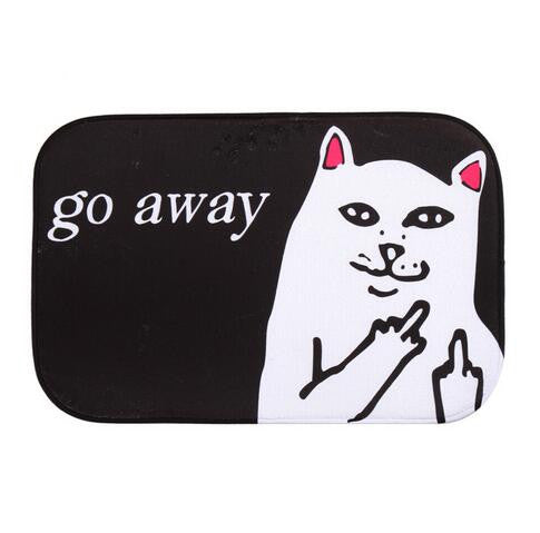 Go Away Indoor Coral Fleece Non-slip Doormat - Perfect for Introverts