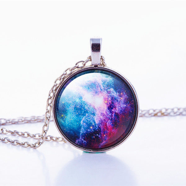 Nebula Space Glass Cabochon Necklace