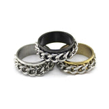 Rotating Braided Chain Spinner Ring