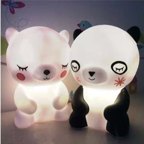 Adorable LED Bedroom Bear Night Lights