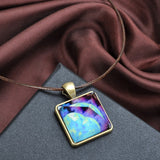 Glowing Magic Crystal Pyramid Pendant