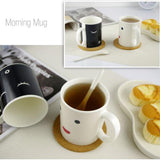 Changing Color Ceramic Morning Mug
