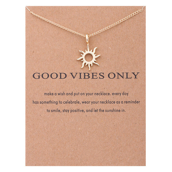Good Vibes Only Statement Necklace