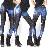 Women Colorful Universe Leggings Galaxy Space Print Leggings