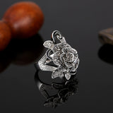Big Rose Flower Elegant Ring