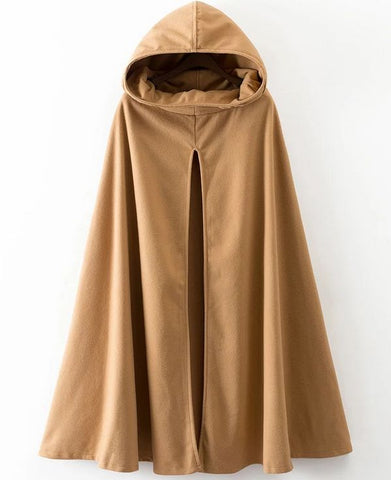 Drop Shoulder Turtle Wool Cape