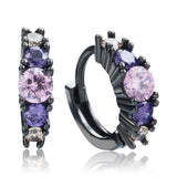 Purple Zircon Earrings