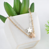 Two Piece Star Chain Charm Bracelet
