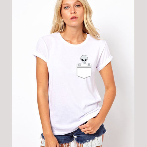 Women Alien Pocket Tees Collections