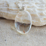 Real Dandelion Seed Wish Flower 925 Sterling Silver Chain