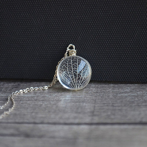 Kabbalah Tree Of Life Real Dried Leaves 925 Sterling Silver Chain Necklace