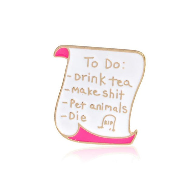 To Do List Pins -  Introverts