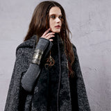 High Quality Drop Shoulder Wool Cape
