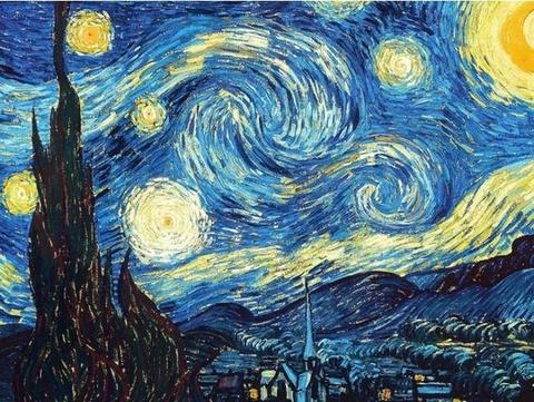 The Starry Night DIY-Van-Go-Paint-by-Number Kit