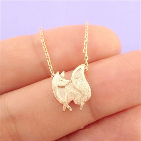 Baby Fox Charm Necklace