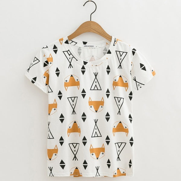 Fox Short Sleeve White Shirt