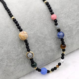 Galaxy Solar System 9 Planets Necklace