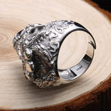 LIMITED EDITION Adjustable Sterling Silver Dark Skeleton Ring