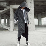 Irregular Asymmetric Boyfriend Long Coat