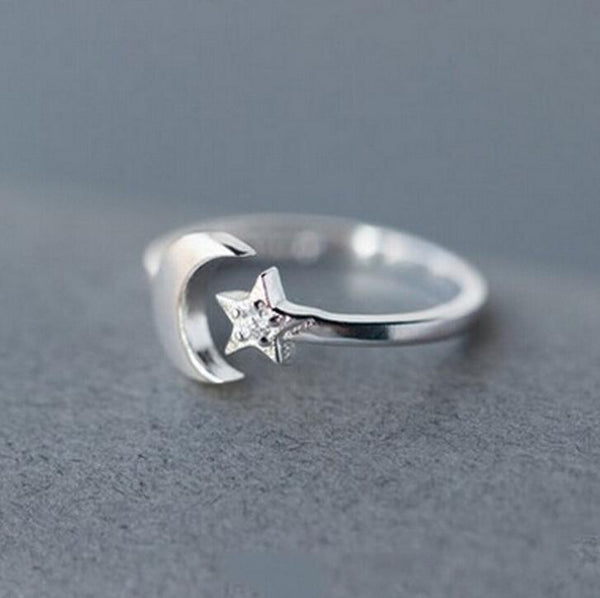 Moon Star High Quality CZ Ring