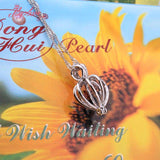 Make a wish Necklace with 100% Real Natural Pearl