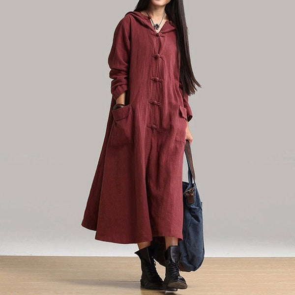 Casual Loose Long Cotton Dress