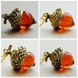 Acorn Charm Pendant Necklace