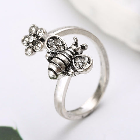 Save The Bees - Adjustable Little Bee Ring