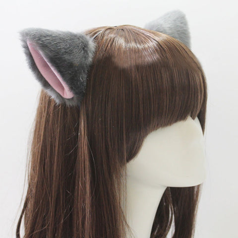 Fox Fur Ears Hair Clip