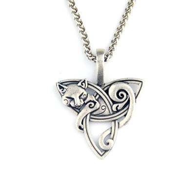 Sleeping Fox Amulet Necklace