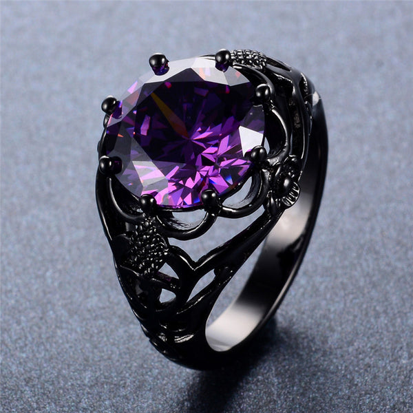Dark Vintage Amethyst Ring