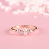 Marquise Cut Three Stone Ring
