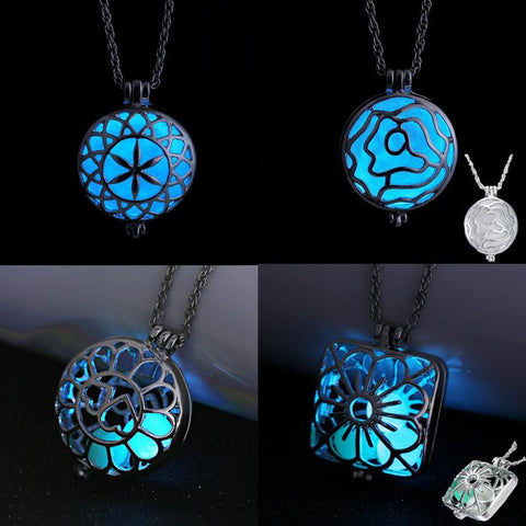 Blue Aqua Luminous Fire Fairy Locket