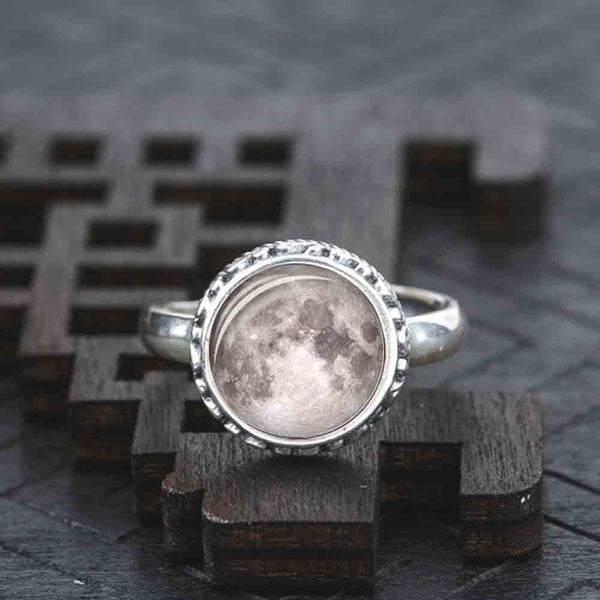 Luminous Galaxy Moon Ring