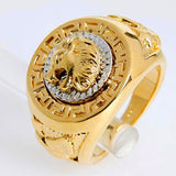 Yellow Gold Filled Lion Head Ring