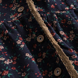 Vintage Floral Print Button-up Cardigan