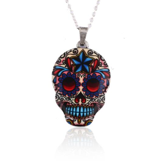 Colourful Skull Gift Necklaces