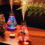 400ml LED Lamp Bulb Air Ultrasonic Humidifier