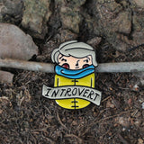 Introvert Scarf Pin - Because sometimes home is the most fun place to be